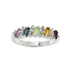 city x city® Multicolor Crystal Baguette Band