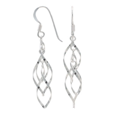 jcpenney.com | Sterling Silver Intertwining Twist Earrings