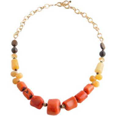 jcpenney.com | Art Smith by BARSE Multicolor Bamboo & Gemstone Necklace