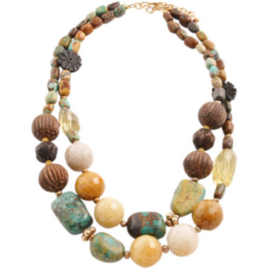 jcpenney.com | Art Smith by BARSE Gemstone & Wood Beaded Necklace