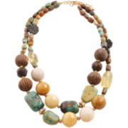 Art Smith by BARSE Gemstone & Wood Beaded Necklace