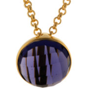 ATHRA Purple Glass Half Dome Pendant Necklace