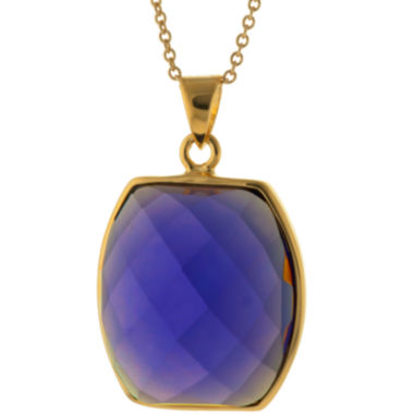 jcpenney.com | ATHRA Purple Glass Stone Hexagon Pendant Necklace