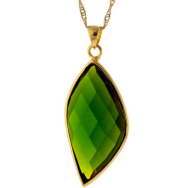 jcpenney.com | ATHRA Green Stone Marquise Pendant Necklace