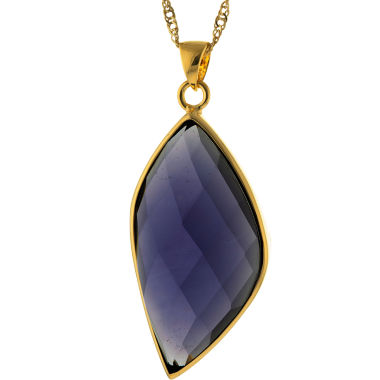 jcpenney.com | ATHRA Purple Glass Stone Marquise Pendant Necklace