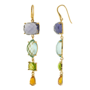 jcpenney.com | ATHRA Multicolor Stone Linear Drop Earrings