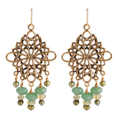 jcpenney.com | Art Smith by BARSE Aventurine & Citrine Chandelier Earrings