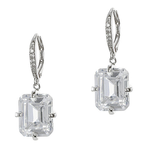 CZ by Kenneth Jay Lane Emerald-Cut Cubic Zirconia Drop Earrings
