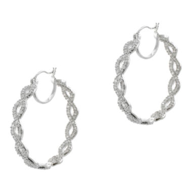 jcpenney.com | CZ by Kenneth Jay Lane Infinity Hoop Earrings