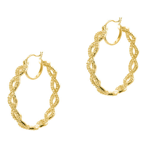 CZ by Kenneth Jay Lane Gold-Tone Infinity Hoop Earrings