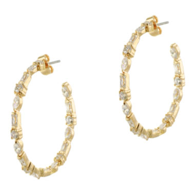 jcpenney.com | CZ by Kenneth Jay Lane Inside-Out Hoop Earrings