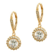 CZ by Kenneth Jay Lane Gold-Tone Brilliant Dangle Earrings