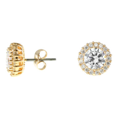 jcpenney.com | CZ by Kenneth Jay Lane Gold-Tone Cluster Stud Earrings
