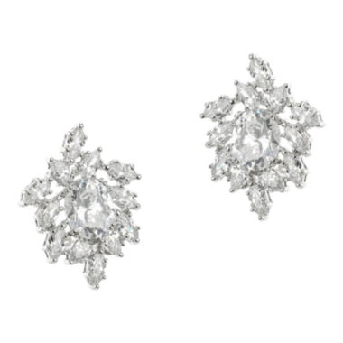 jcpenney.com | CZ by Kenneth Jay Lane Silver-Plated Freeform Cluster Earrings