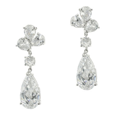 jcpenney.com | CZ by Kenneth Jay Lane Pear-Shaped Clip-On Dangle Earrings