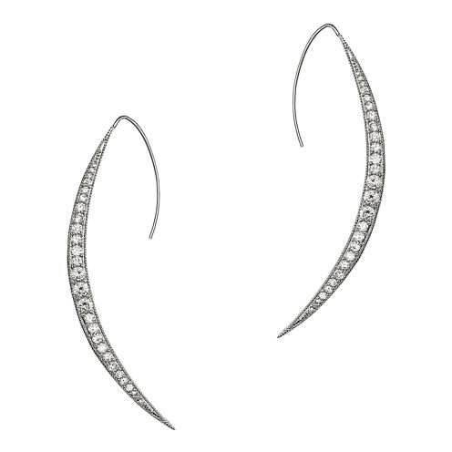 CZ by Kenneth Jay Lane Pavé Wedge Earrings