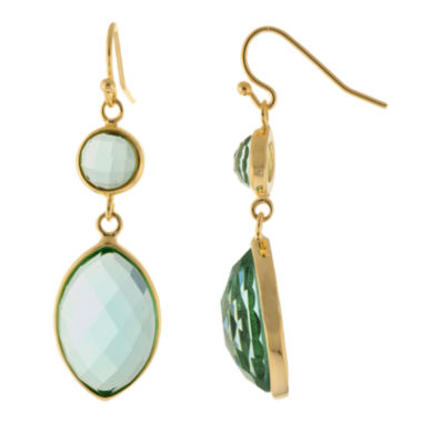 jcpenney.com | ATHRA Blue Glass Marquise Double-Drop Earrings