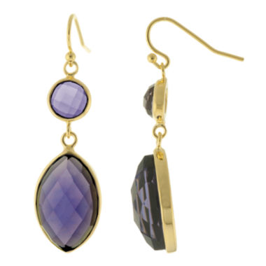 jcpenney.com | ATHRA Purple Stone Marquise Double-Drop Earrings