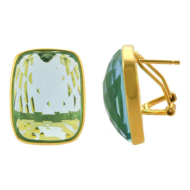 jcpenney.com | ATHRA Aqua Glass Rectangle Earrings