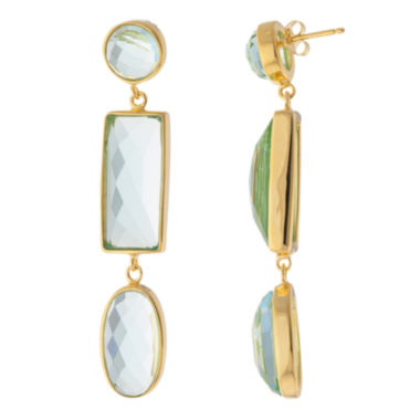jcpenney.com | ATHRA Aqua Resin 3-Stone Drop Earrings
