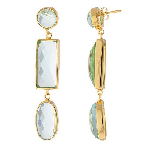 ATHRA Aqua Resin 3-Stone Drop Earrings