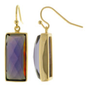 ATHRA Purple Resin Rectangle Earrings
