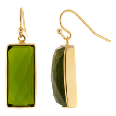 jcpenney.com | ATHRA Green Stone Rectangle Earrings