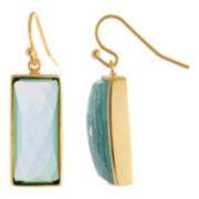ATHRA Aqua Resin Rectangle Earrings