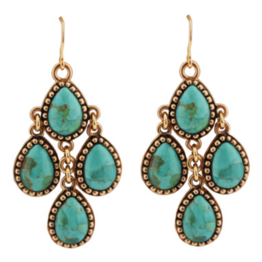 jcpenney.com | Art Smith by BARSE Green Turquoise Dangle Earrings
