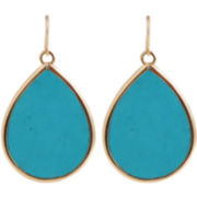 Art Smith by BARSE Blue Magnesite Teardrop Earrings