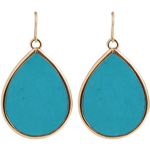 Art Smith by BARSE Blue Magnesite Teardrop Earrings