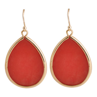 jcpenney.com | Art Smith by BARSE Orange Quartz Teardrop Earrings
