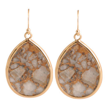 jcpenney.com | Art Smith by BARSE White Calcite Teardrop Earrings