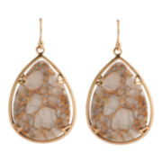 Art Smith by BARSE White Calcite Large Teardrop Earrings