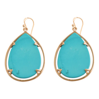 jcpenney.com | Art Smith by BARSE Blue Magnesite Large Teardrop Earrings