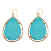 Art Smith by BARSE Blue Magnesite Large Teardrop Earrings