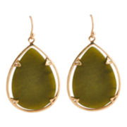 Art Smith by BARSE Green Quartz Large Teardrop Earrings