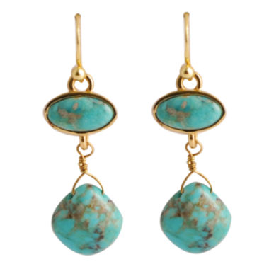 jcpenney.com | Art Smith by BARSE Turquoise Double-Drop Earrings