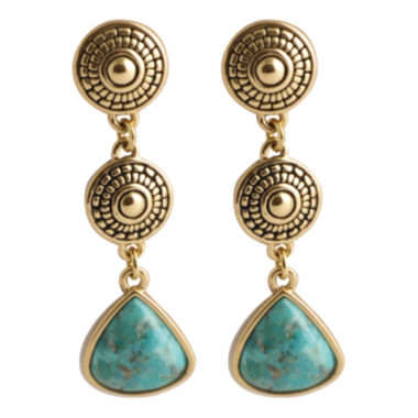 jcpenney.com | Art Smith by BARSE Turquoise 3-Drop Triangle Earrings