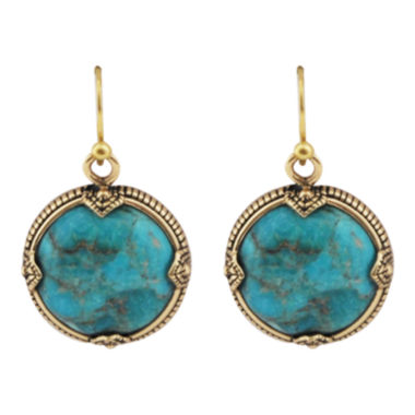jcpenney.com | Art Smith by BARSE Turquoise Framed Round Earrings