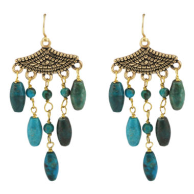 jcpenney.com | Art Smith by BARSE Turquoise Droplet Earrings