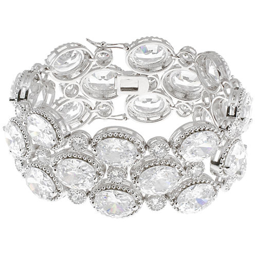 CZ by Kenneth Jay Lane Oval-Cut Bracelet