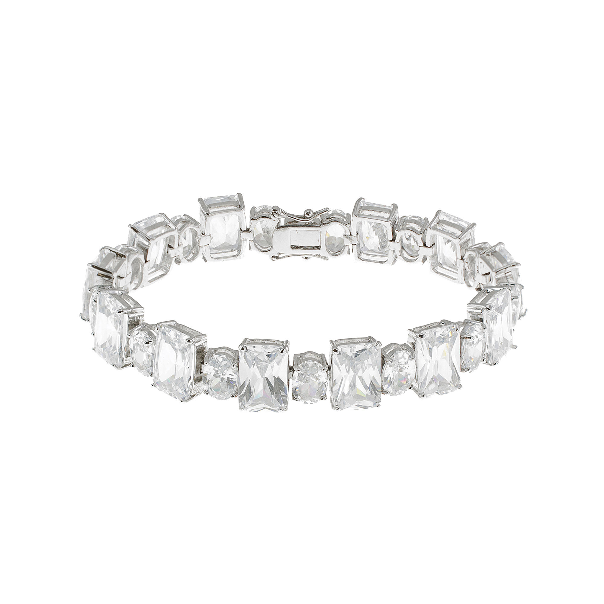 CZ by Kenneth Jay Lane Dual-Cut Bracelet