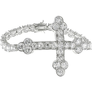 jcpenney.com | CZ by Kenneth Jay Lane Cross Tennis Bracelet