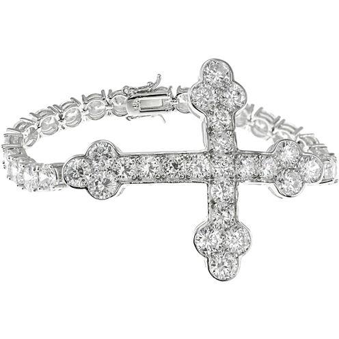CZ by Kenneth Jay Lane Cross Tennis Bracelet