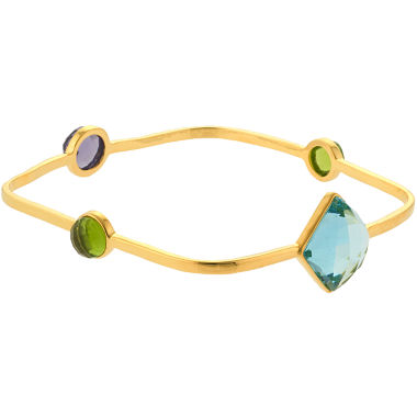 jcpenney.com | ATHRA Multicolor Stone Square Bangle