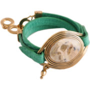 Art Smith by BARSE African Opal Leather Wrap Bracelet