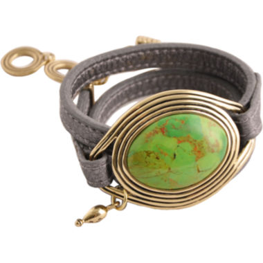 jcpenney.com | Art Smith by BARSE Green Turquoise Leather Wrap Bracelet