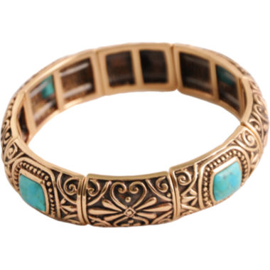 jcpenney.com | Art Smith by BARSE Turquoise Stretch Bangle