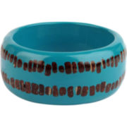 Designs by Adina Blue Resin Large Bangle